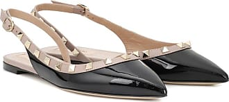 a26e0ff0ca39 Valentino Rockstud patent leather slingback ballet flats