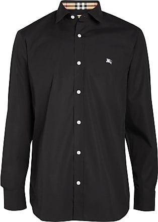 03f4be176a Burberry Contrast Button Stretch Cotton Shirt - Black