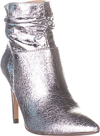 xoxo Womens Taniah Pointed Toe Ankle Fashion Boots, Silver, Size 6.5 US / 4.5 UK US