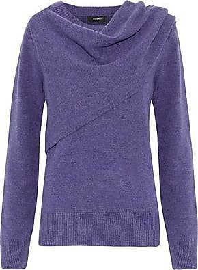 GOEN.J Goen.j Woman Draped Wool And Cashmere-blend Sweater Purple Size S