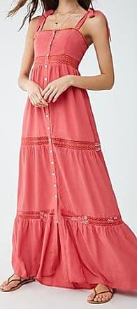 Forever 21 Forever 21 Crochet Maxi Dress Hibiscus