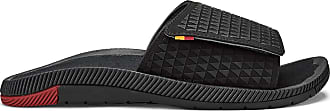 Olukai Mens Halo Olu Slide Sandals, Black/HLA, 14