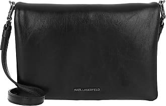 Karl Lagerfeld Bauhaus Shoulder Pouch Black White Umhängetasche schwarz