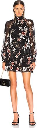 Nicholas High Neck Mini Dress in Black,Floral