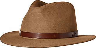 f7dd75b83004b9 Brixton Mens Messer Medium Brim Felt Fedora HAT, Tobacco, S