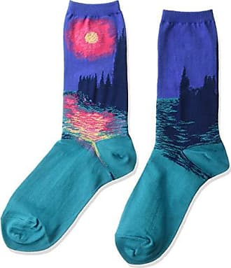 Hot Sox Womens Artist Series Crew, Monets Houses Of Parliament (Periwinkle), Shoe Size: 4-10 (Sock Size: 9-11)