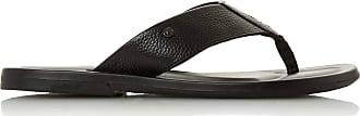 Dune London Dune Mens FREDS Toe Post Sandals Size UK 11 Black Flat Heel Smart Sandals