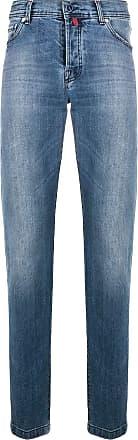 Kiton low rise straight leg jeans - Blue