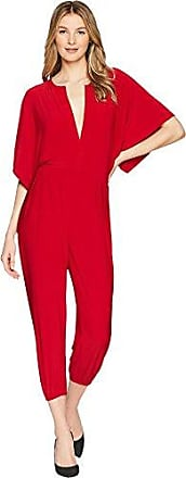 Norma Kamali Womens Rectangle Jog Jumpsuit in Red, L