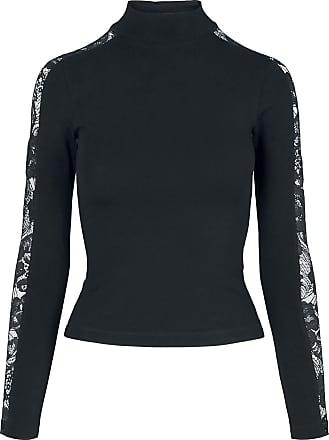 Urban Classics Ladies Lace Striped Longsleeve - Langarmshirt - schwarz