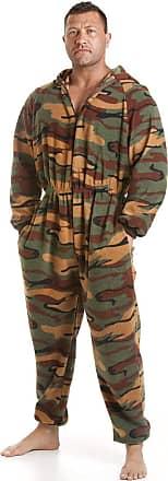 Camille Mens Soft Fleece Onesies XXXXXL Green Camouflage