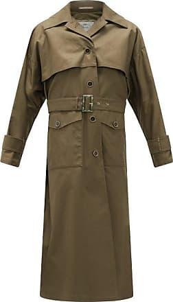Herno Belted Cotton-gabardine Trench Coat - Womens - Khaki
