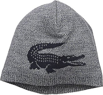 Lacoste Mens Big Crocodile Jacquard Reversible Wool Beanie 1169afd3a0b3