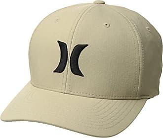 pretty nice e9fd6 69a77 Hurley Mens Dri-Fit One   Only Flexfit Baseball Cap, Khaki  Black