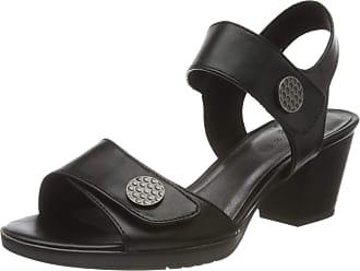 Jana Womens 8-8-28328-24 Ankle Strap Sandals, Black (Black 001), 4 UK
