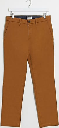 Timberland twill straight chino trousers-Brown