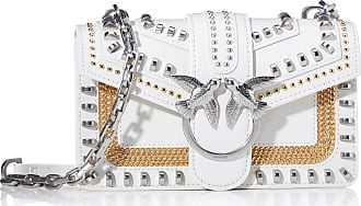 Pinko Love Mini Mix Studs Cl Vitello Womens Cross-Body Bag, Grey (Grigio Argento), 6x12.8x20.8 Centimeters (W x H x L)