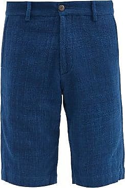 11.11 / eleven eleven 11.11 / Eleven Eleven - Single Spindle Cotton-canvas Shorts - Mens - Navy