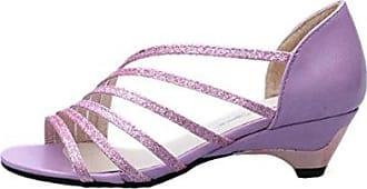 04be8acf32d0c5 Hunpta Mode Ausschnitte Frauen Sandalen Open Toe niedrige Keile Sommer  Schuhe Badeschuhe (EU 36