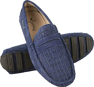 Zerimar Mocassins Men | Men Loafers Shoes Casual | Leather Mocassins Mens | Shoes Moccasins Mens Loafers | Mens Loafers (Blue-Navy, Numeric_10_Point_5)