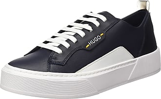 HUGO BOSS Mens Volcano_Tenn_mx Low-Top Sneakers, Blue (Dark Blue 401), 9 UK