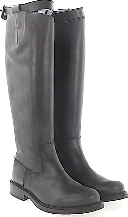 Budapester Boots calfskin smooth leather Decorative buckle grey