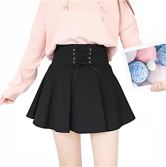 Vdual Korean Girls Women High Waist Trendy Summer Fashion Black Pattern Pleated Summer Sporty Lady Tennis Skirt