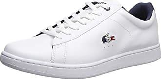 Lacoste Mens Carnaby EVO Sneaker White/Navy/Red 7 Medium US