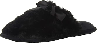 Dearfoams DF Womens Scuff Slipper, Black, L Medium US