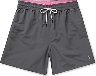 Polo Ralph Lauren Wide-leg Mid-length Swim Shorts - Charcoal