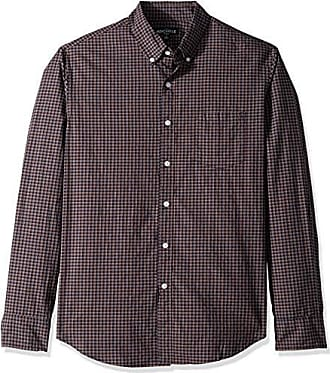 J.crew Mens Slim-Fit Long-Sleeve Tattersall Shirt, Heather Navy Pumpkin, XS