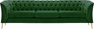 SLF24 Chesterfield Modern 3 Seater Sofa-Velluto 10-gold metal