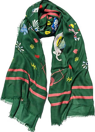 Cyclades Olympia Cashmere Blend Scarf Green