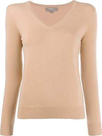 N.Peal v-neck jumper - Brown