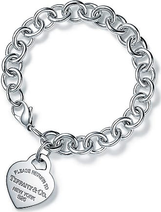 Tiffany & Co. Return to Tiffany Charm-Armband mit Herzanhänger in Sterlingsilber - Size 7.5 in