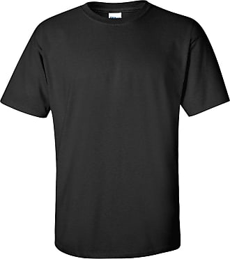 Gildan 2 Pack of Soft Cotton Plain Mens Summer T Shirts Black & White bu Colour: Black/Black, Size: M