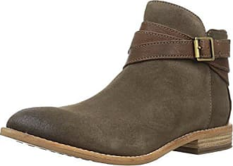 0d702d97d Clarks Womens Maypearl Edie Ankle Bootie Olive Suede Leather 8 M US