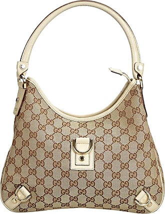 e74c389a129 Gucci Brown Beige Jacquard Fabric Gg Abbey Shoulder Bag Italy W  Dust Bag