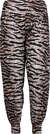 Purple Hanger New Womens Printed Hareem Loose Baggy Trousers Ladies Print Pattern Long Harem Pants Plus Size Tiger Print Size 12-14