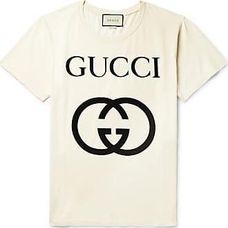 d0a3ee06 Gucci Oversized Logo-print Cotton-jersey T-shirt - Ecru