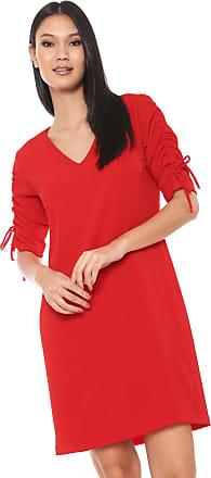 Ana Hickmann Vestido Ana Hickmann Curto Franzido Vermelho