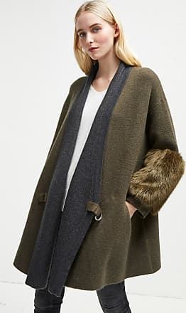 French Connection Elaine Faux Fur Knit Cardigan