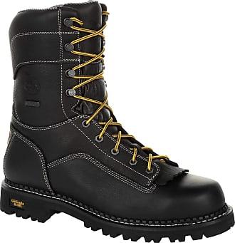 Georgia Boot AMP LT Logger Low Heel Waterproof Work Boot Black