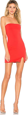 Superdown Kiera Strapless Dress in Coral