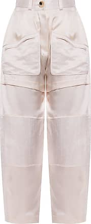 Lanvin Logo Trousers Womens Cream