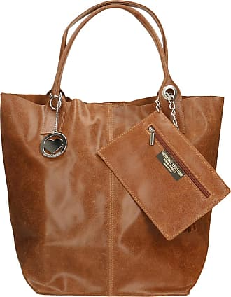Chicca Borse Leather in Genuine Leather Made in Italy 39x36x20 cm