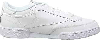 Reebok Mens Club C 85_AR0455 Gymnastics Shoe, Int-White/Sheer Grey, 10.5 UK