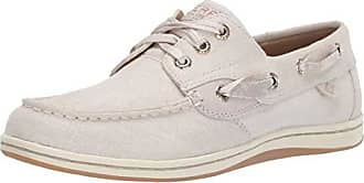 Sperry Top-Sider Womens Songfish Linen Boat Shoe, Ivory, 055 M US