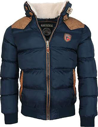Geographical Norway Warm Winter Jacket Designer Men Winter Quilted Jacket - Navy, Gr.XXL/Gr.2XL