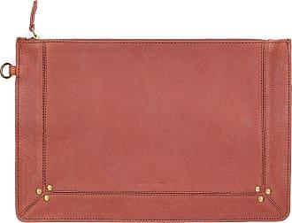 Jerome Dreyfuss Clutch POPOCHE L leather studs gold pink